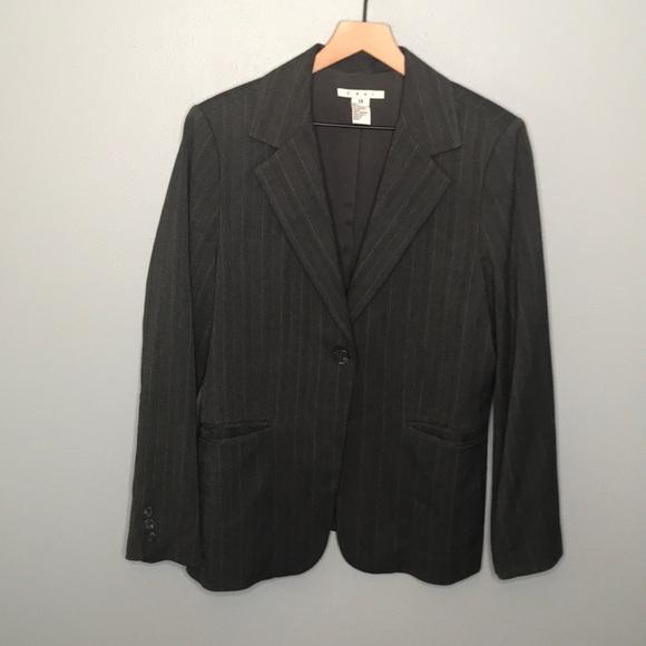 CAbi Jackets & Blazers - CAbi dark gray pinstripe blazer jacket sz 14